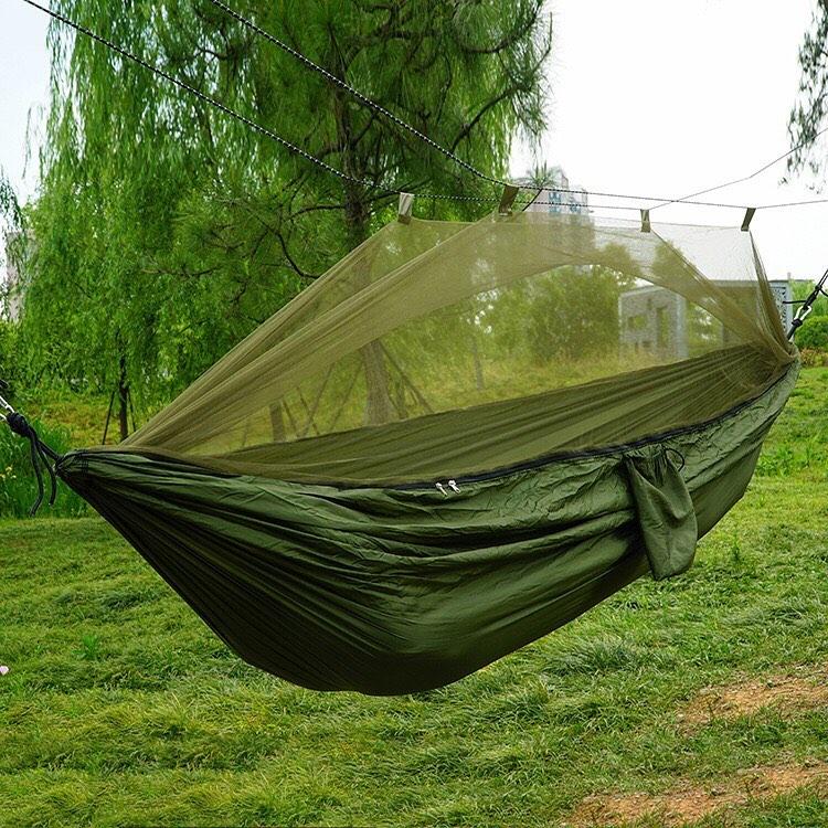 HorBous 31* 102 Portable Outdoor Sport Camping Travel Beach Backpacking Nylon Hamac l/éger avec 2 Cordes 4 Couleurs